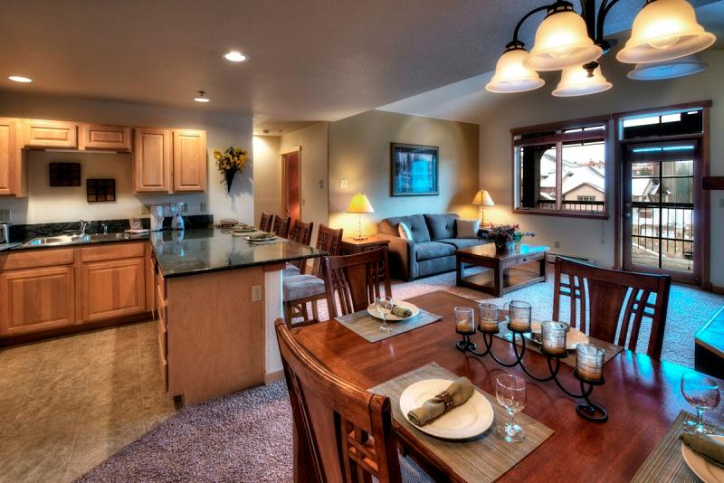Dining and kitchen and living room