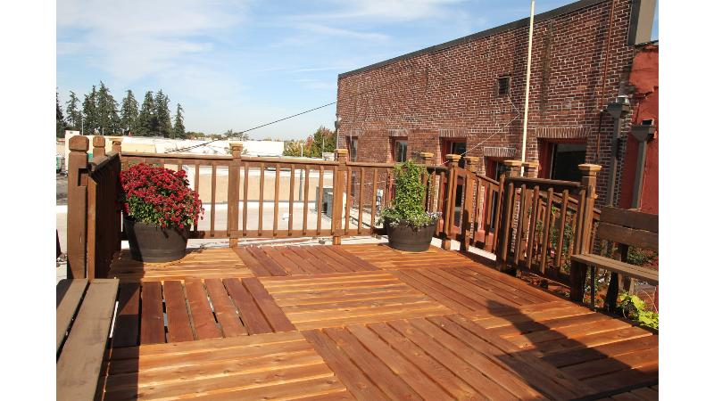Roof top deck, large and private.