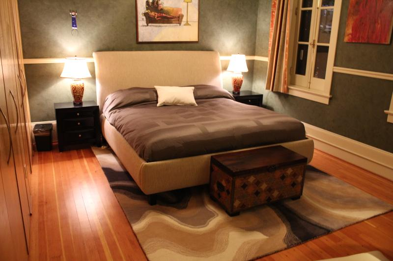 King size bed, with duel  heating controls in master bedroom.