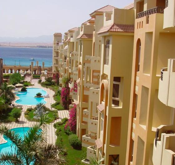 El Andalous, with its pools, gardens and private beach.