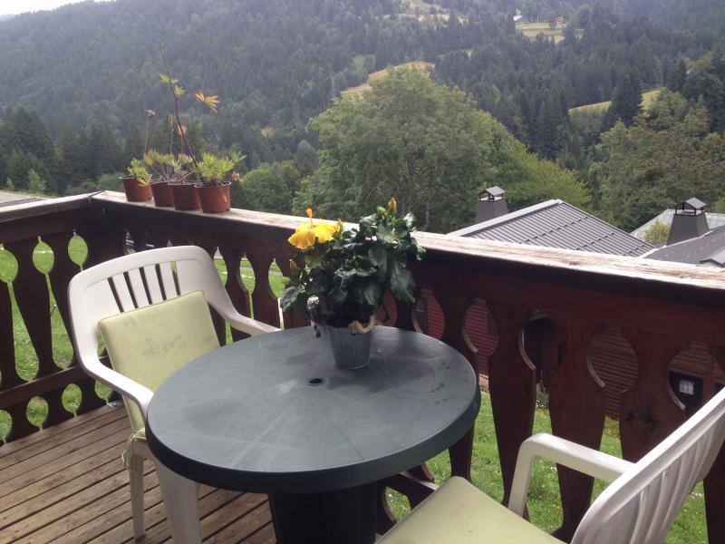 sunny balcony, summer photo