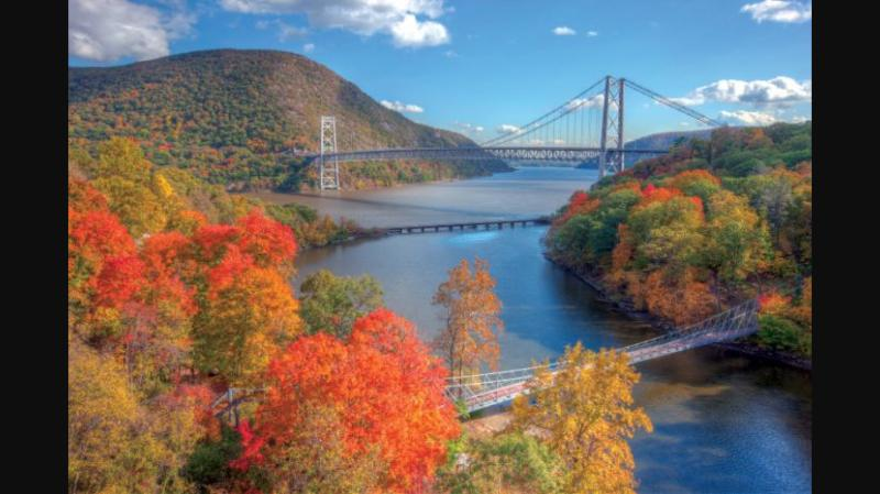 Enjoy the amazing views of the Bear Mountain bridge! Breath taking !