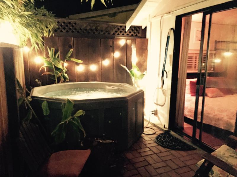 Private bubbling hottub