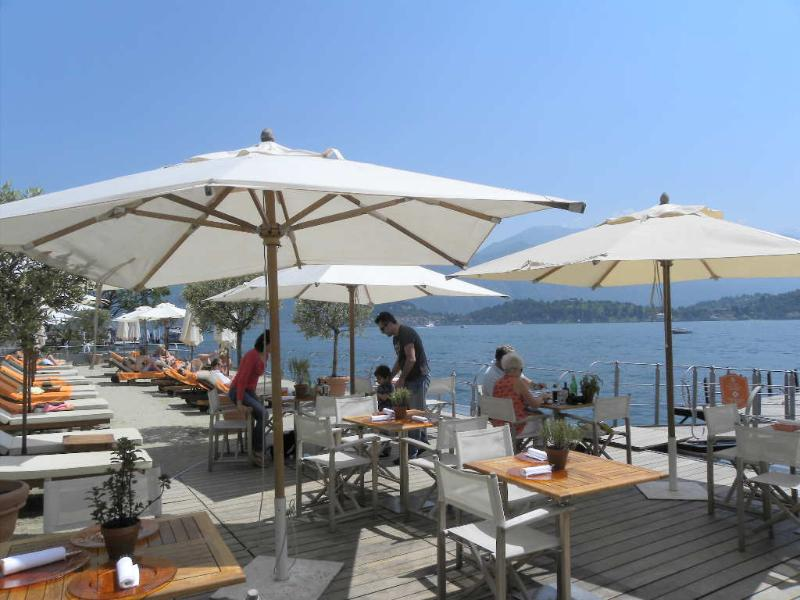 At different places on the Lake you can hire deck chairs, including the Lido in Menaggio.
