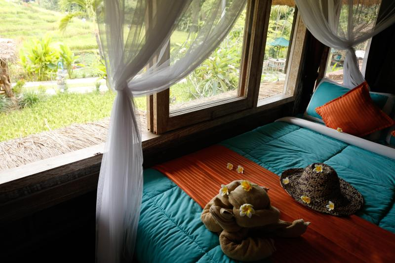 KTS.Jewel bed room over looking rice terrace view.