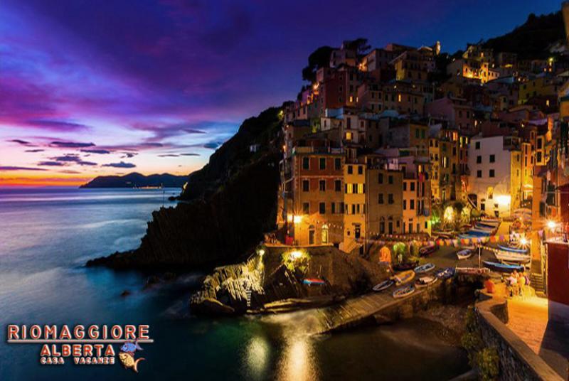 Riomaggiore, village by night