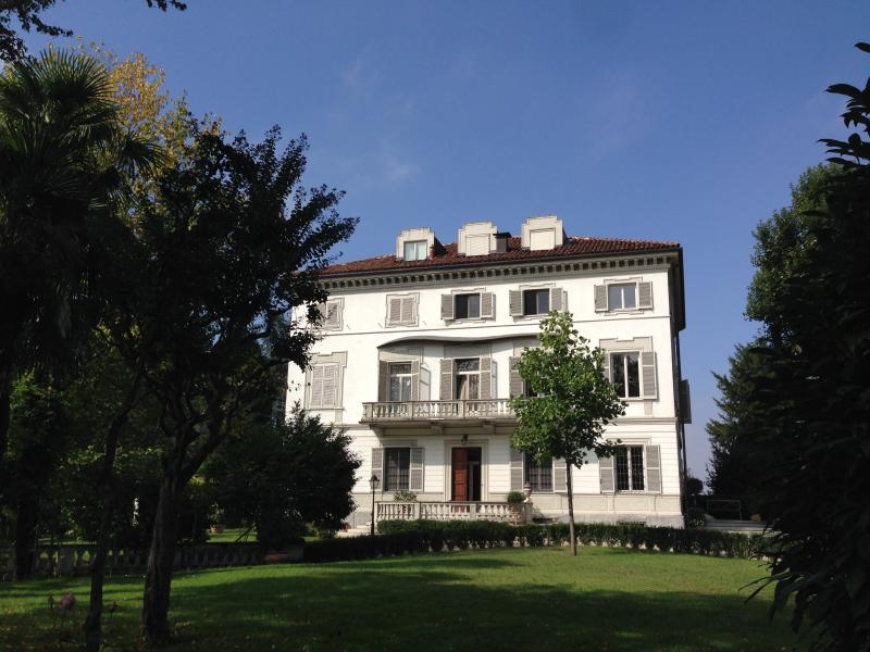 View of the Building, with its private park