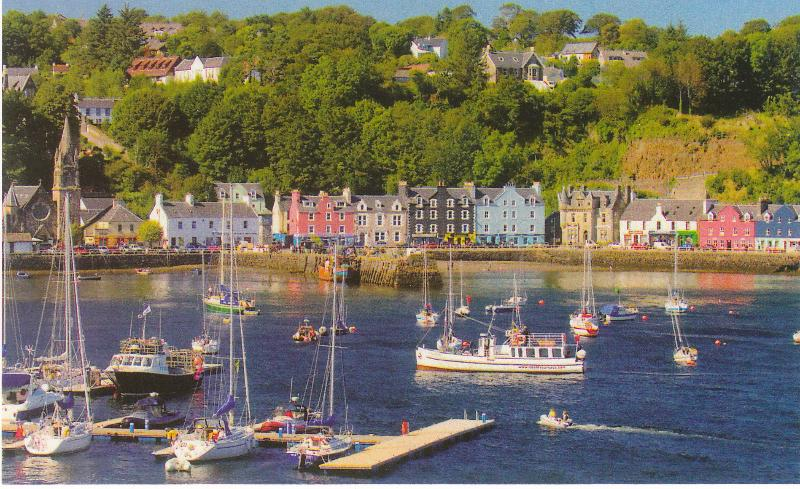 Tobermory with its painted houses. Balamory to the kids!
