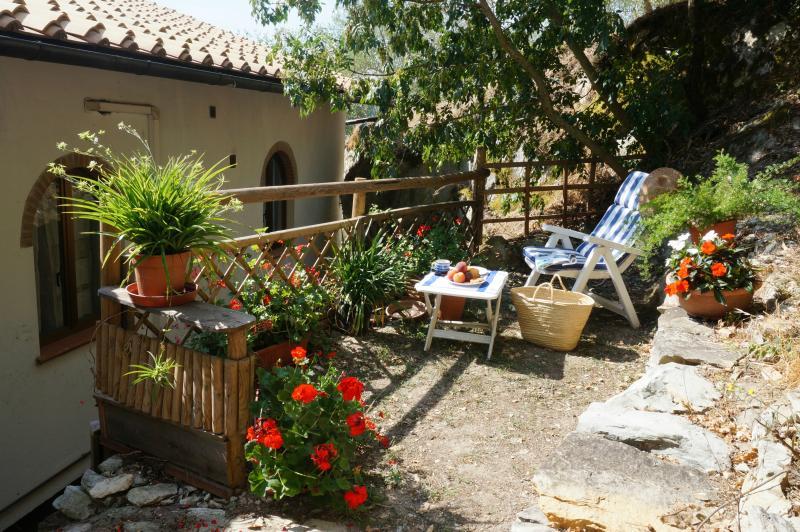 Private outside terrace to relax al fresco