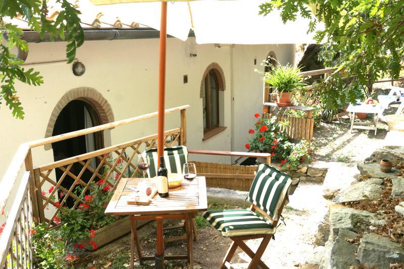 Charming Apartment in Olive Farm w/ Patio + Views, alquiler vacacional en Calcinaia