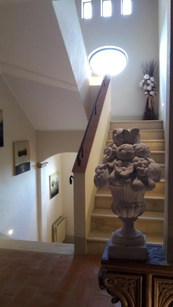 Internail stairs of the villa