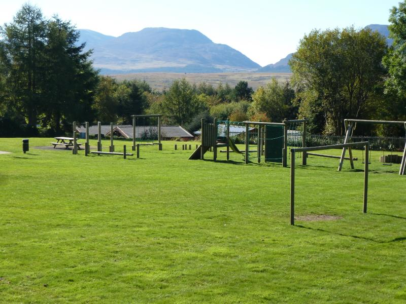 Recently refurbished children's play park. With stunning mountain views just over lane from cabin