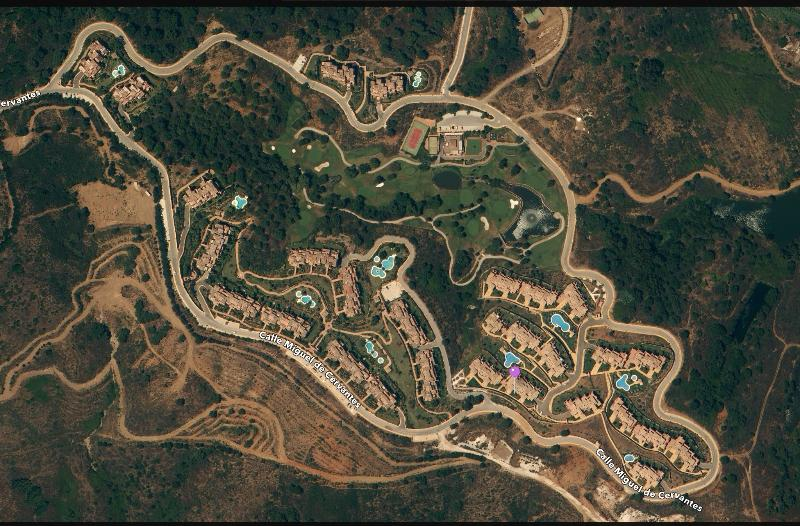aerial view of the amazing El Soto De Marbella Resort,  pools, golf, clubhouse gardens, amazing |!