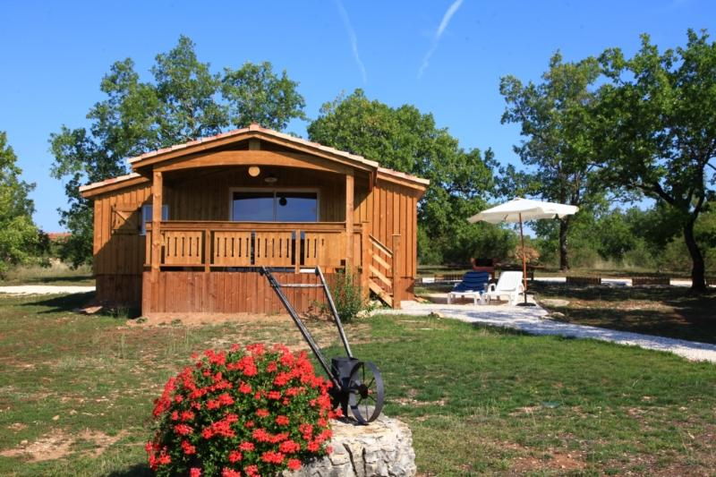 Chalet Biron avec piscine chauffée toute l'année, location de vacances à Orliaguet