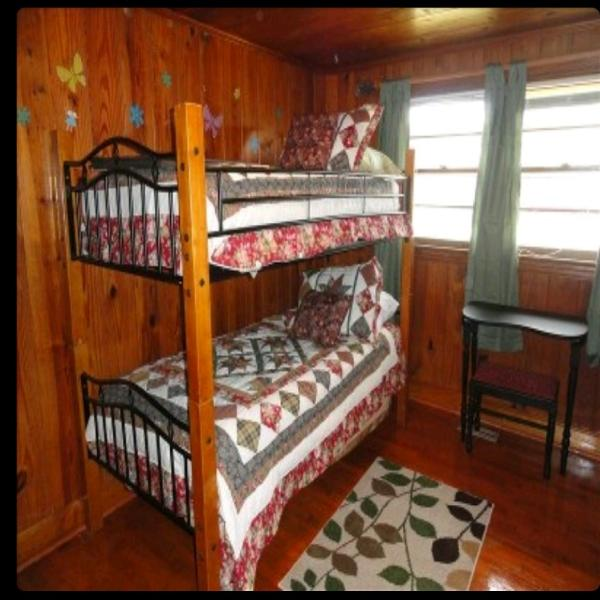 Everyone loves the bunk room! Even adults. Plenty of play area with toys included.