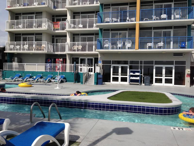 Lazy river in in front of the unit.