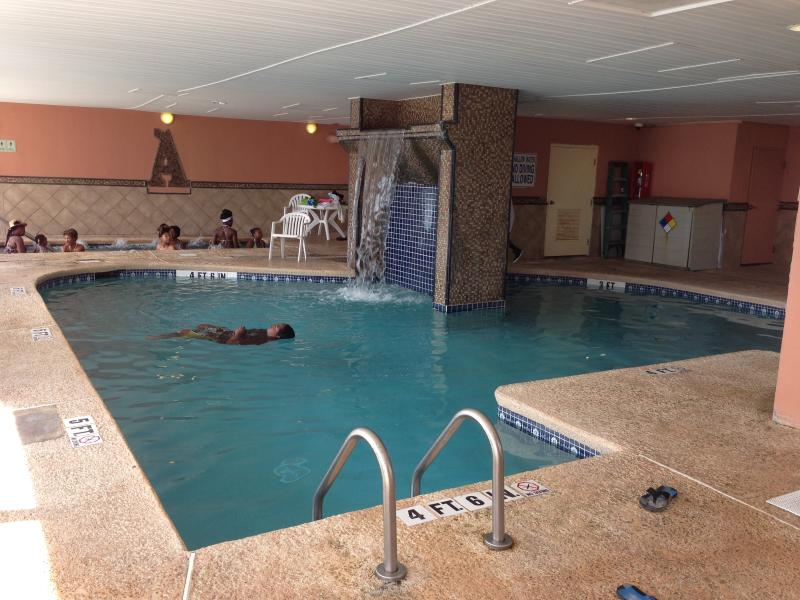 Swimming pool and a hot tub