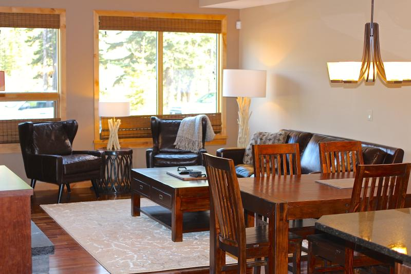 Luxury accommodations just minutes from Main St. Canmore with convenient main floor private access.