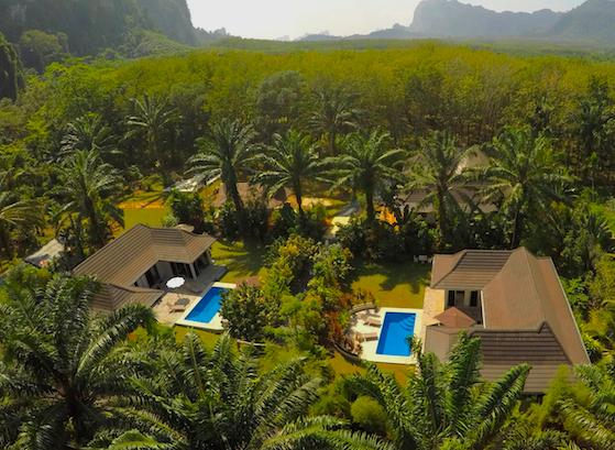 3 villas in one gated complex providing total privacy