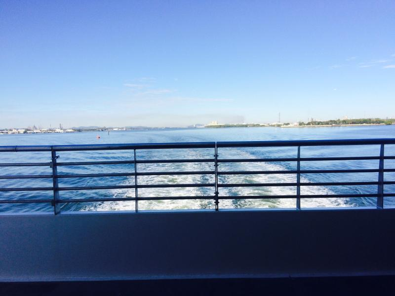 View from Micat - Leaving Brisbane and on the way to Tangalooma Hilltop Haven, Moreton Island