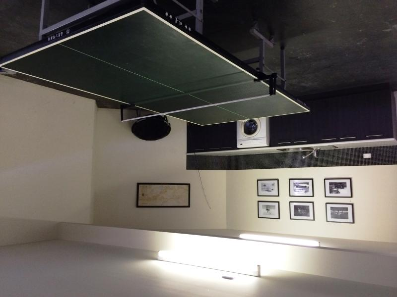 Lower Level - Double Garage with Ping Pong Table