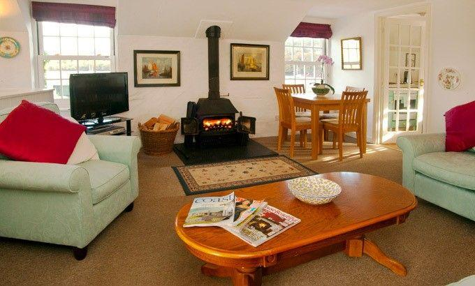 Sitting Room with wood burner stove
