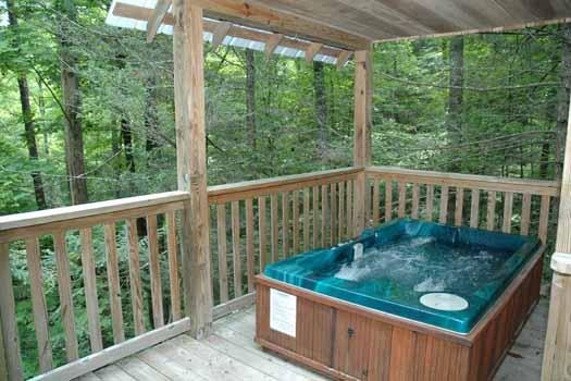 Outdoor Hot Tub at A Great Escape