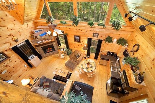 Sala de estar em Honey Bear Haven