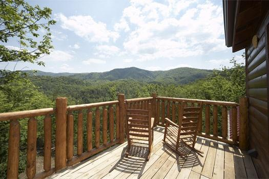 Third Floor Deck View of the Smoky Mountains at Over The Rainbow