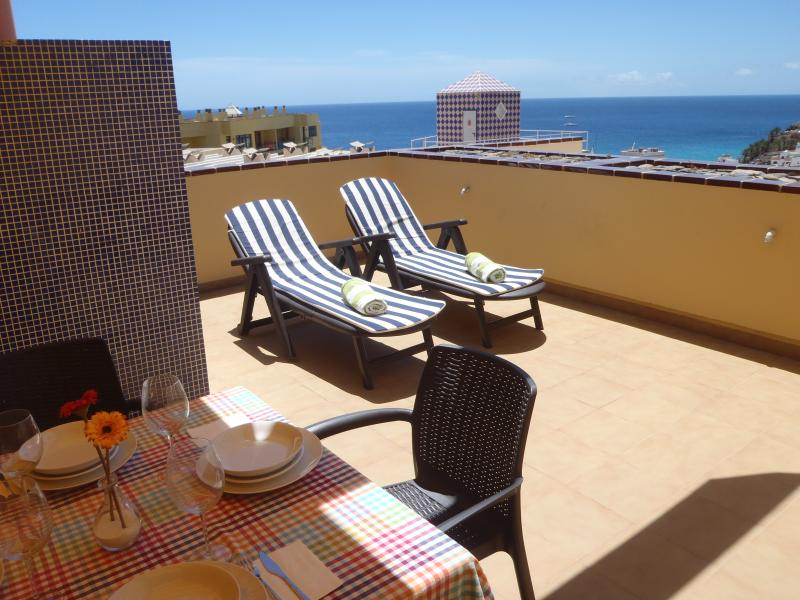 great terrace, very sunny and with sea views