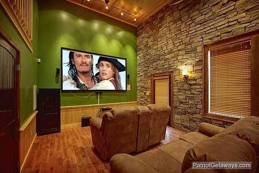 Theater Room Screen at Making Memories Lodge