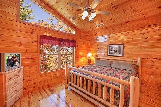 Dormitorio del tercer piso en Hickernut Logia