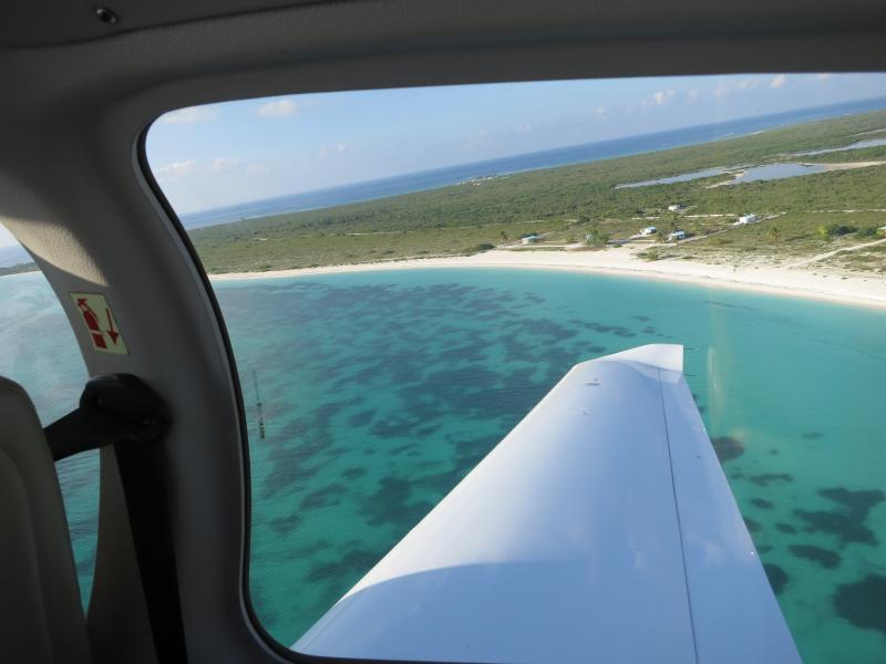 Flight to British Virgin Island's only coral island