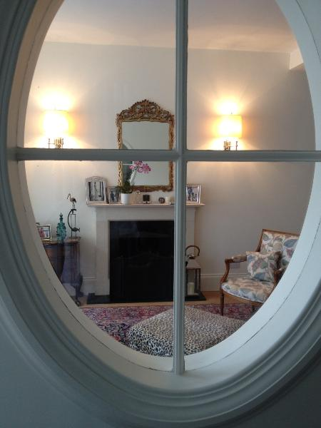 Quirky detail I love - the Oval window peeping into the drawing room