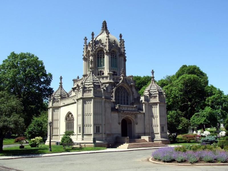 Historical Greenwood Cemetery.  Turerna är imponerande.