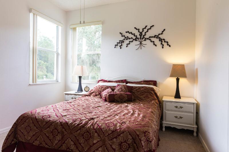 O segundo quarto en suite com belas vistas sobre a reserva.