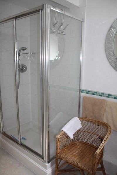 Su cubículo de la ducha