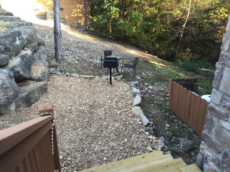 New custom BBQ pit area