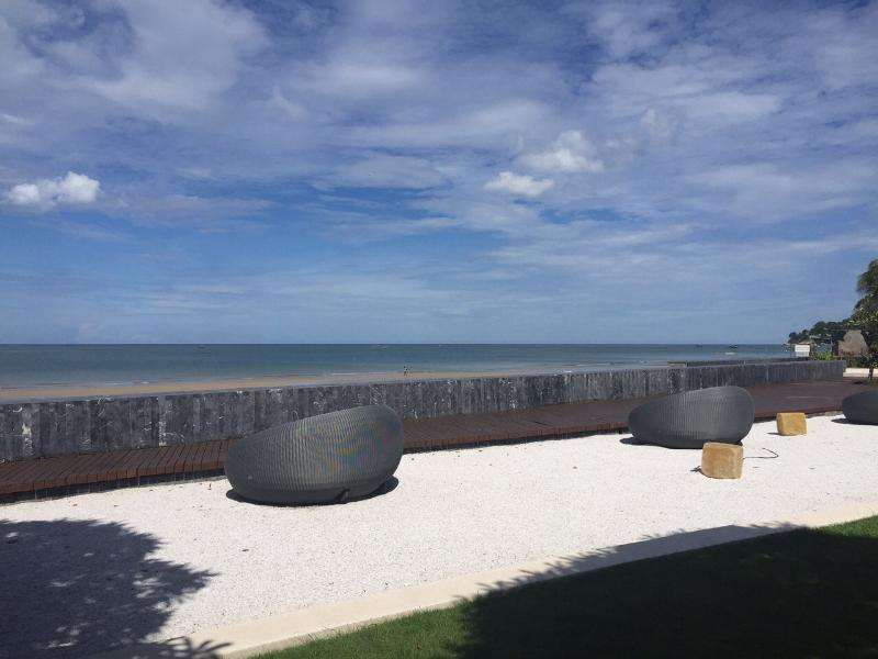 Overlooking beachfront
