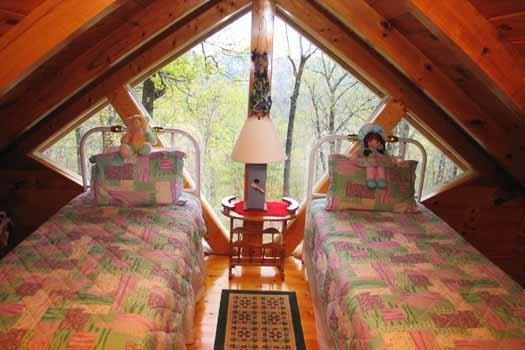 Lofted Bedroom at Just Us