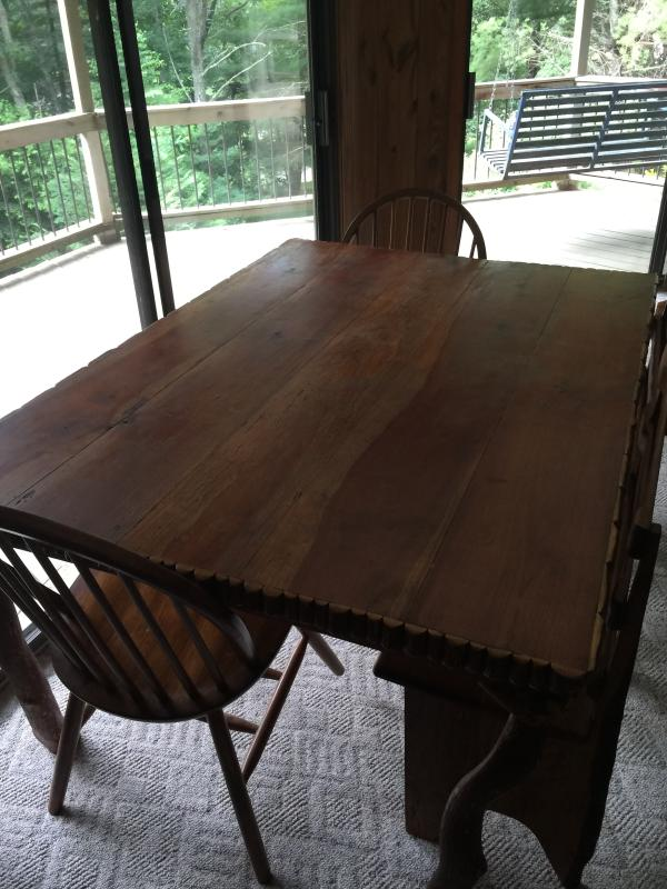 large table downstairs