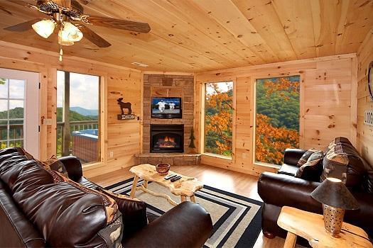 Living Room at A Perfect Getaway