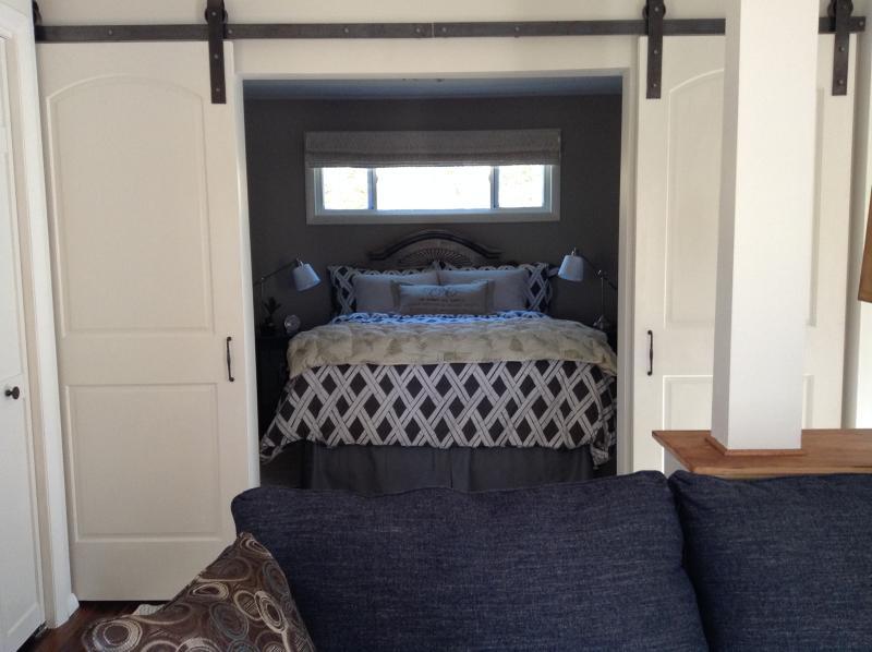 Barn doors to bedroom
