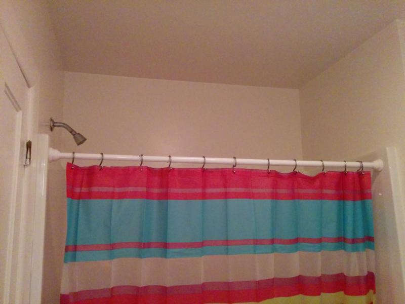 Full bathtub and shower in Upstairs bathroom