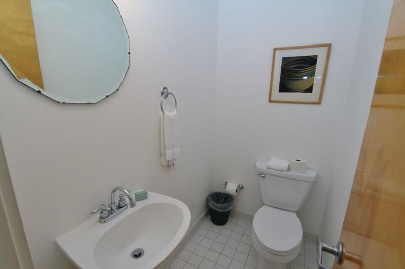 Powder Room in the Hall