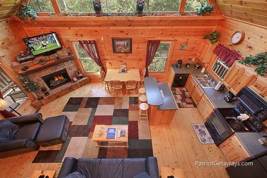 Overhead View of Living Area at Tranquility