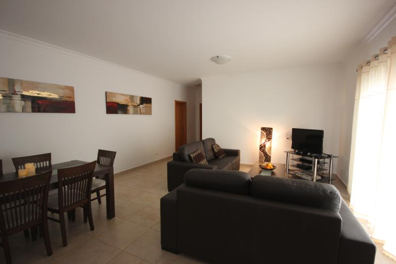 Living Area with TV and dining