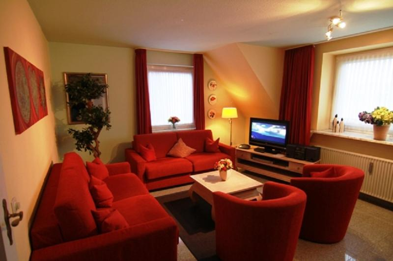 Living room of the apartment. 3 in the 1st floor. with American kitchen, 2 bedrooms,...