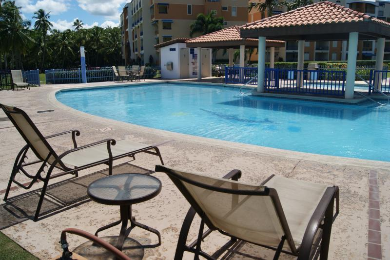 Pool has plenty seating areas.