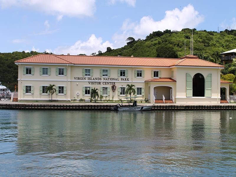 Walking distance to the VI National Park Visitors Center in Cruz Bay